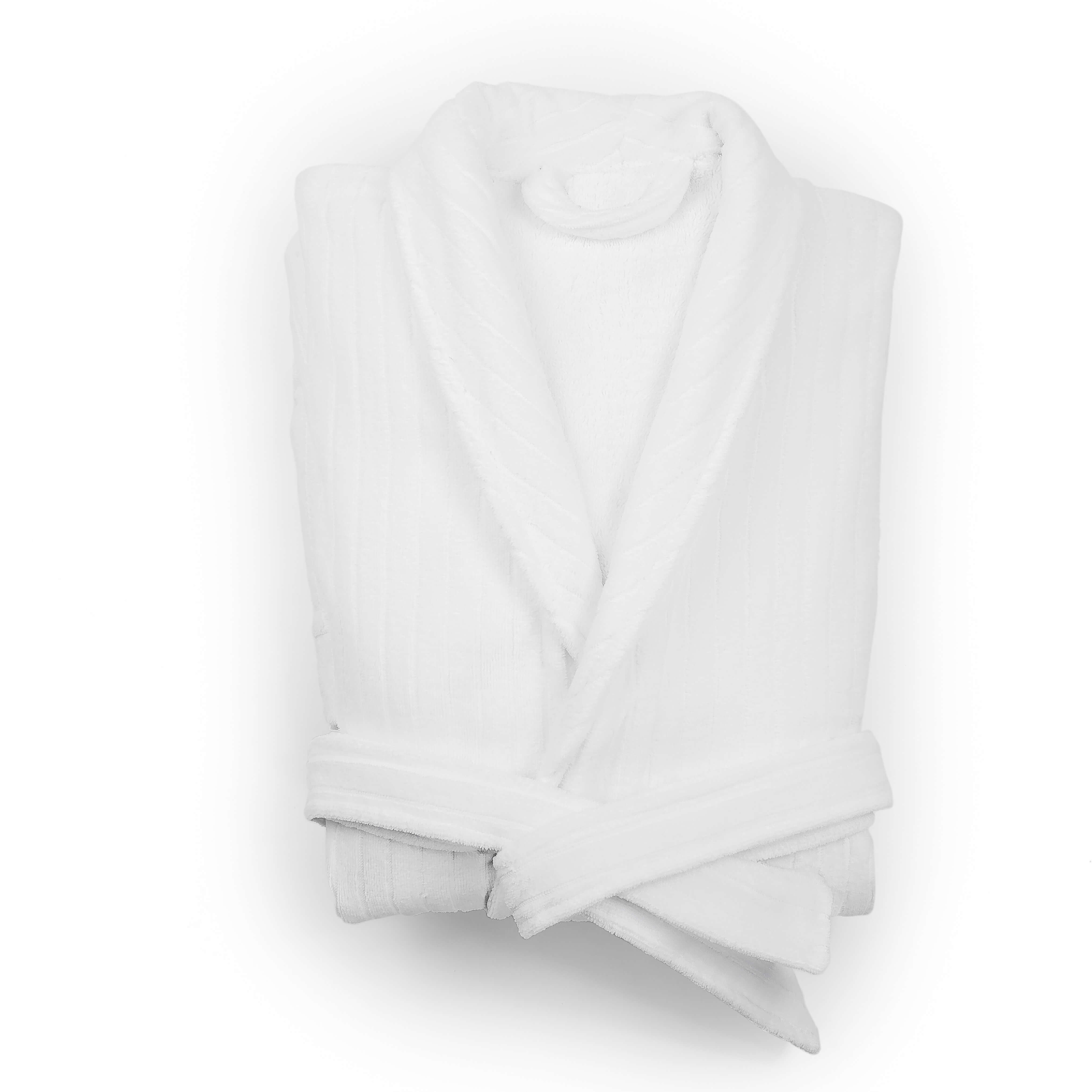 Velour Bathrobe Shawl Collar